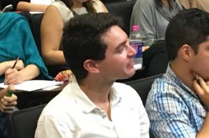 Manuel A. Martin, estudiante de segundo año del curso Teoría General del Derecho