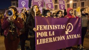 Foto por Roland Bos durante una marcha en Barcelona el 8 de marzo, día internacional de las mujeres.